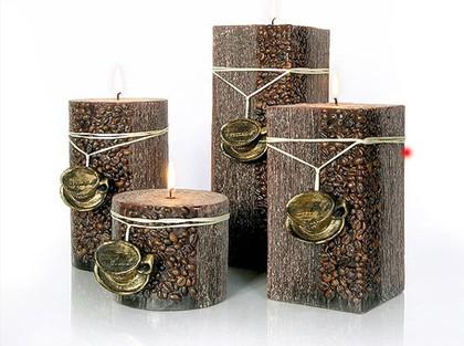 """Свеча """"Капучино"""" колонна 10х8cм Bartek Candles 5902989577762"""