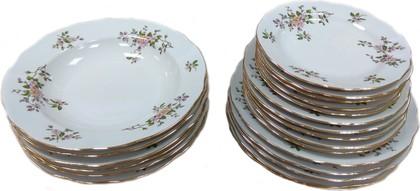 Набор тарелок Дулёвский фарфор Вырезной край, Цветение, 24 предмета 087712