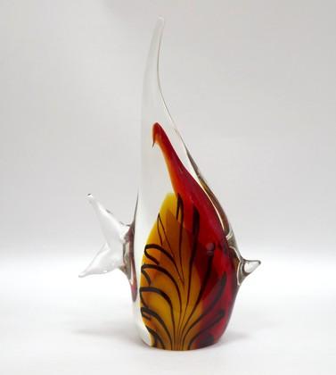 Фигурка стеклянная Пёстрая скалярия 13х23см Top Art Studio ZB1519-TA