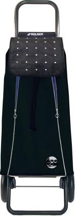 Сумка-тележка Rolser Rock, 2 колеса, складная, чёрная с синим PAC095negro/azul