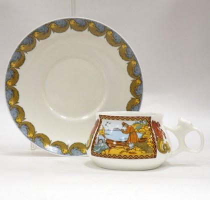 Чашка с блюдцем Сказка о рыбаке и рыбке, ф. Билибина ИФЗ 81.24272.00.1