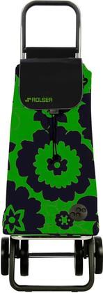 Сумка-тележка хозяйственная чёрно-зелёная Rolser LOGIC DOS+2 PAC007verde/negro