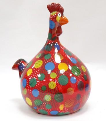 Копилка Pomme-Pidou Маленький Цыплёнок Marie красная в горошек 148-00071/4