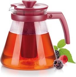 Чайник 1.25л, с ситечками для заваривания, бордовый Tescoma TEO 646623.20