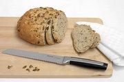 Нож для хлеба Brabantia Profile, матовый стальной, чёрный 500046