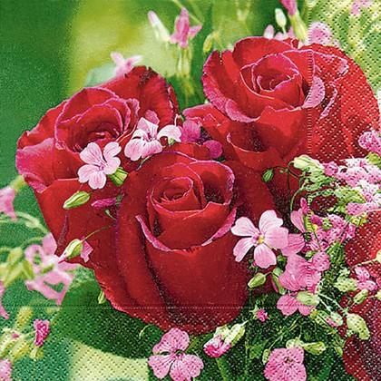 Салфетки для декупажа Paper+Design Букет роз, 33x33см, 20шт 21738
