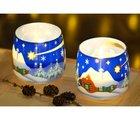 "Свеча Новогодняя ""Зимний пейзаж"" стакан 8х7cм Bartek Candles 152063"
