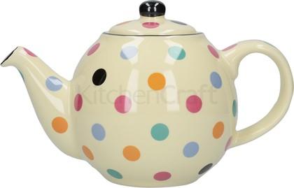 Чайник заварочный KitchenCraft London Pottery Geo Полька, 1000мл 84100