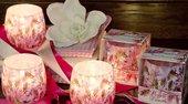Свеча Любимые цветы, стакан 8x7.5см Bartek Candles 5907602694406