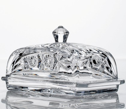"Маслёнка ""Комета"" 17см Crystalite Bohemia 5K906/1/99S84/170"