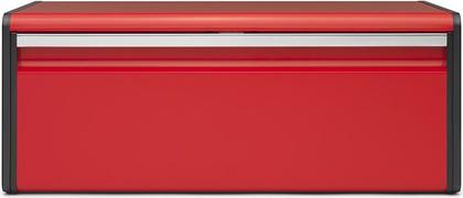 Хлебница Brabantia с откидной крышкой из стали красного цвета 484025