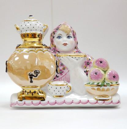 Скульптура Русский чай, Дулёвский фарфор ДС2465