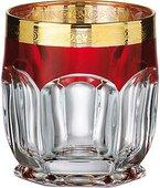 Стаканы для виски Crystalite Bohemia Сафари 6шт, 250мл, рубин, золото 2KD67K/0/432267/250