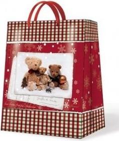 Пакет подарочный бумажный Paw Семейство Мишек 26х13х33см AGB019905