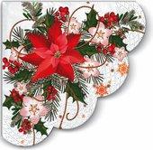 Салфетки Рождественская композиция круглые d32, 3-сл, 12шт Paw SDR059500