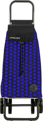 Сумка-тележка хозяйственная сине-чёрная Rolser LOGIC DOS+2 PAC006azul/negro