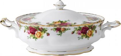 Ваза для вторых блюд закрытая 1700мл Розы Старой Англии Royal Albert IOLCOR00406