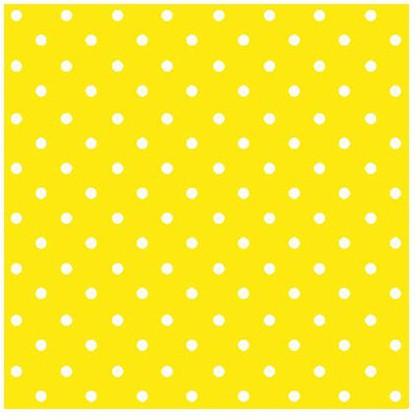 Салфетки Горох жёлтый, 33x33, 20шт Paw SDL066017