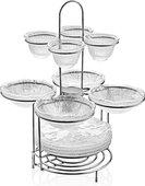 Стойка для сервировки закусок IVV Diamante Happy Hour с набором посуды 6624.1