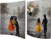 Модульная картина Top Art Studio Первое свидание 41x51см, пара, дерево, лак WDP1744-TA