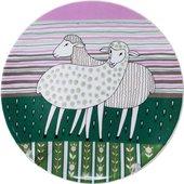 Тарелка декоративная ИФЗ Эллипс, Весёлые овечки Дружба! 80.80128.00.1