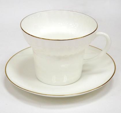 Чашка с блюдцем Золотой кантик, ф. Волна ИФЗ 81.13549.00.1