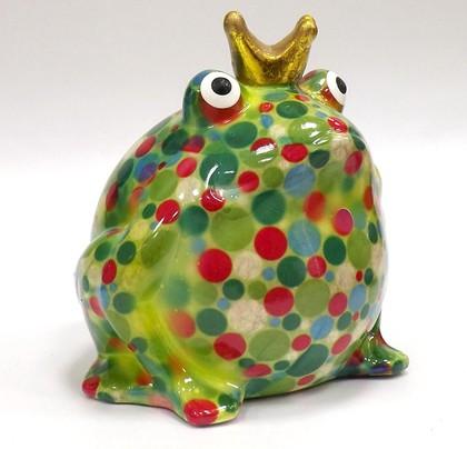 Копилка Царевна лягушка FREDDY зелёная с розовым Pomme-Pidou 148-00003/4