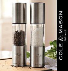 Мельницы для соли, перца и специй Cole & Mason