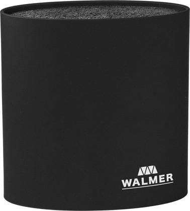 Подставка для ножей Walmer овальная, 16x7x16см, чёрная W08002201