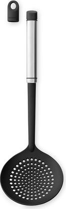 Шумовка, матовая сталь / чёрный Brabantia Accent 463785