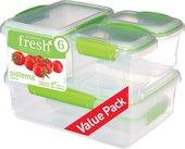 Набор контейнеров 6 предметов, салатовый Sistema Fresh 951760