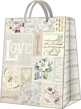 Пакет подарочный LOVE 26.5x33.5x13см Paw AGB1000405