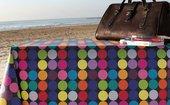 Скатерть водоотталкивающая Aitana Hooper, 140x100см, разноцветные круги HOOP/140100/negro