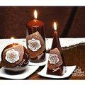"Bartek Candles DOLCE VITA Свеча ""Дольче вита"" - образ коллекции C, колонна 70х150мм, артикул 5907602660494"