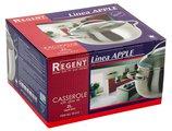 Кастрюля 2л матовая полировка, стеклянная крышка 16х9.5см Apple Regent Inox 93-D-8