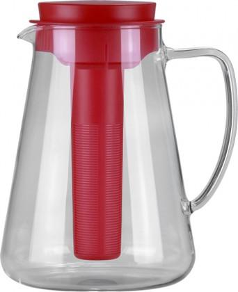Кувшин 2.5л, с ситечком для настаивания и охлаждающей частью, красный Tescoma TEO 646628.20
