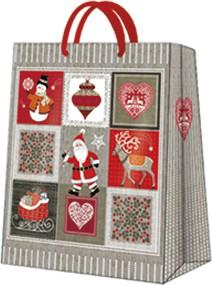 """Пакет подарочный """"Картинки Рождества"""" 20x25x10см Paw AGB031403"""