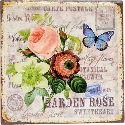 Подставки под горячее Art Atelier Сад роз, 20x20см, керамика ART1113-TA