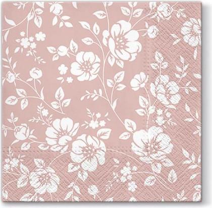 Салфетки для декупажа Paw Орнамент кусты, роза, 33x33см, 20шт TL677004