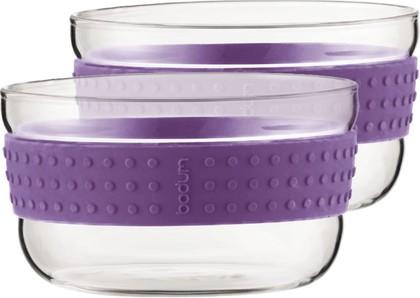 Набор из двух салатников, 12.5см, фиолетовые Bodum PAVINA 11336-278