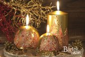 Свеча декоративная Bartek Candles Ёлочка нарядная, колонна, 7х15см 118012