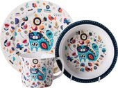 Набор детской посуды Top Art Studio Цветочный кот, 3пр. SC1332-TA