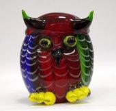 Фигурка стеклянная Сова цветная 10х14см Top Art Studio ZB0076-TA