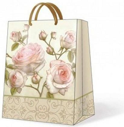 "Paw BEAUTY ROSES Пакет подарочный ""Романтичная роза"", 26,3x33x13,5см, артикул AGB015105"