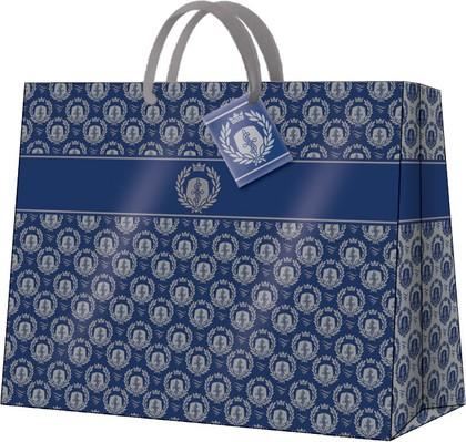Пакет подарочный бумажный Paw Королевский ,синий 33.5x26.5x13см AGB017306