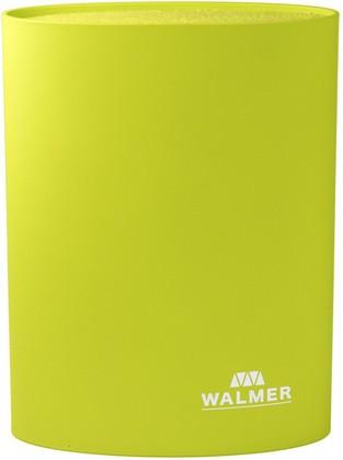 Подставка для ножей овальная 16x7x22см, зеленая WALMER W08002303