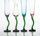 Бокалы для шампанского Crystalite Bohemia Цветы, 4шт, 220мл 458370/220/BVx4