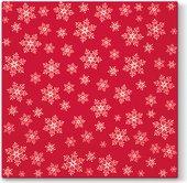 Салфетки для декупажа Paw Звезды повсюду, 33x33см, 20шт., красный SDL195003