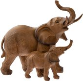 Статуэтка Lesser & Pavey Слониха со слоненком 25x24см, полистоун LP42895