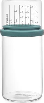 Стеклянная банка Brabantia с мерным стаканом 1л, мятный 290244